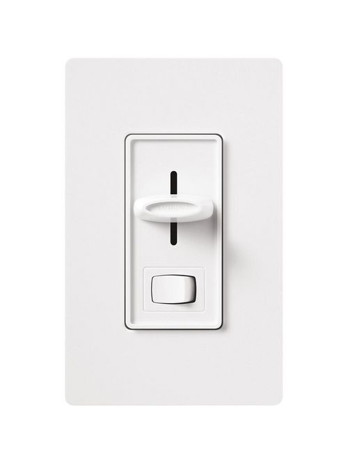 Lutron S-603PH-WH 600 W 120 VAC White 3-Way Incandescent/Halogen Preset Slide Dimmer with Rocker Switch