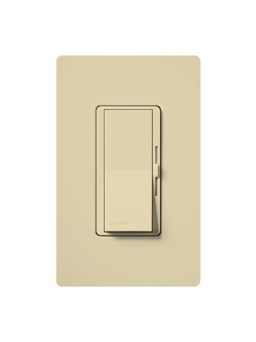 Lutron Electronics DVLV-600PH-IV 450 W 120 Volt Ivory 1-Pole Magnetic Low Voltage Paddle Switch Preset Dimmer