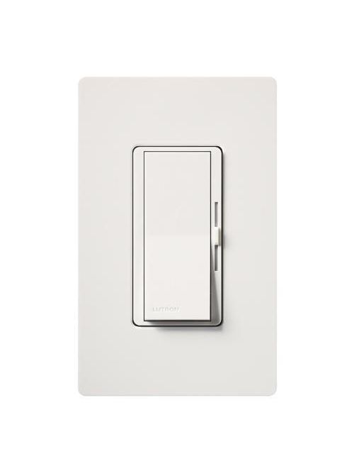 Lutron Electronics DVLV-10PH-WH 800 W 120 Volt White 1-Pole Magnetic Low Voltage Paddle Switch Preset Dimmer
