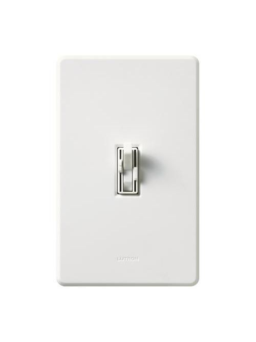 Lutron AY2-LFSQ-WH 1.5 Amp 300 W 120 Volt White 1-Pole Incandescent/Halogen Fan/Light Speed Control Dimmer