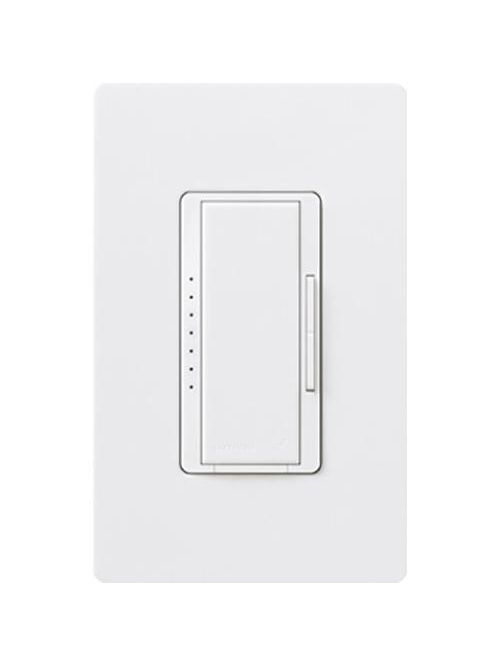 Lutron Electronics RRD-10ND-WH 120/277 VAC 1000 W White 1-Pole/Multi-Location Incandescent/Halogen Remote Dimmer