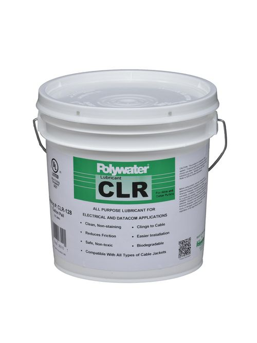 American Polywater CLR-128 1 Gallon Pail 6.5 to 8 pH Clear Cable Lubricant