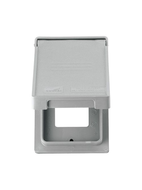 Eaton Wiring Devices S2966 1-Gang Gray Non-Metallic GFCI/Decorator Weather Protective Cover