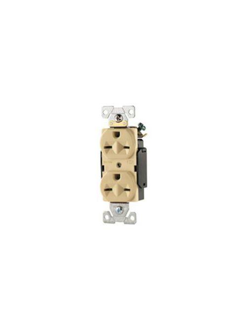 Arrow Hart Wiring AH5662B 15 Amp 250 VAC 2-Pole 3-Wire NEMA 6-15R Brown Straight Blade Duplex Receptacle