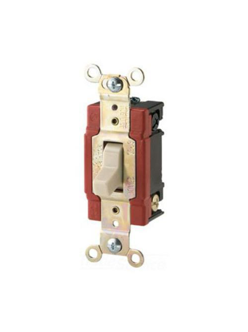 Arrow Hart Wiring AH1223LA 20 Amp 120/277 VAC 3-Way Light Almond Toggle Switch