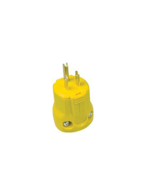 Arrow Hart Wiring AH5965Y 15 Amp 125 VAC 2-Pole 3-Wire NEMA 5-15P Yellow Straight Blade Plug