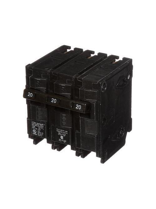 Siemens MP320 3-Pole 240 VAC 20 Amp 10 kA Plug-In Common Trip Circuit Breaker