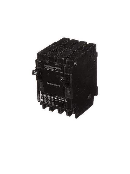 Siemens Industry QSA2020SPD 1-Pole 120/240 VAC 20 Amp 10 kA Plug-On Load Terminal Circuit Breaker