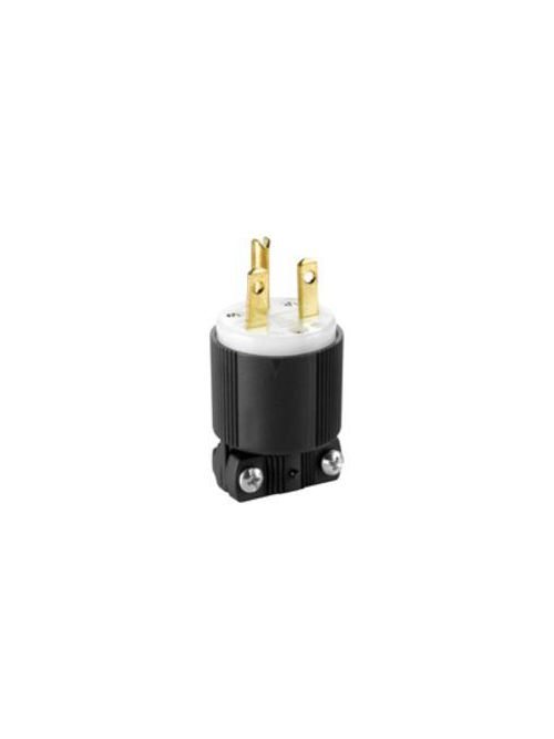 Eaton Wiring Devices 6669 15 Amp 250 VAC 2-Pole 3-Wire NEMA 6-15R Black/White Straight Blade Connector