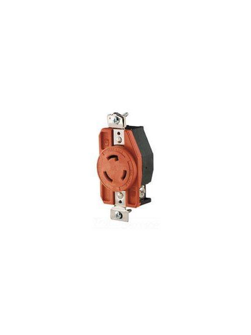 Eaton Wiring Devices IGL620R 20 Amp 250 VAC 2-Pole 3-Wire NEMA L6-20 Orange Isolated Ground Locking Single Receptacle