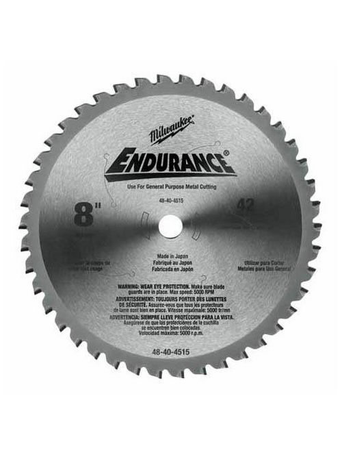 """Milwaukee 48-40-4515 8"""" 42 Tooth Dry Cut Cermet Tipped Circular Saw Blade"""