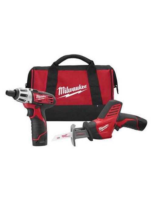 Milwaukee 2490-22 M12™ Cordless Lithium-Ion 2-Tool Combo Kit
