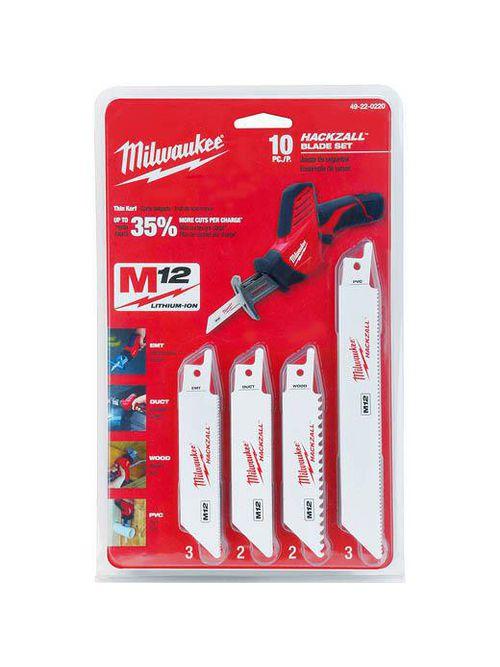 Milwaukee 49-22-0220 10pc HACKZALL™ Blade Assortment Set