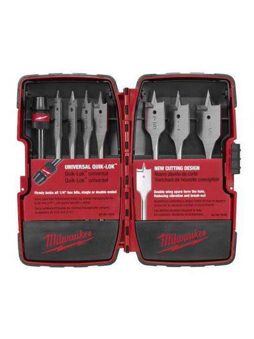 Milwaukee 49-22-0175 8-Piece Universal Quik-Lok™ Flat Boring Bit Set