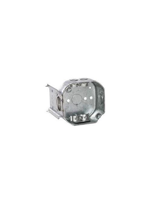 RACO 160 4 x 4 x 1-1/2 Inch 15.5 In Pre-Galvanized Steel J Bracket Mount Drawn Octagon Box