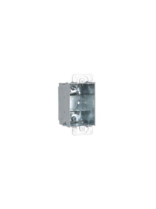 RACO 570RAC 2 x 3 x 2-3/4 Inch 14 In Pre-Galvanized Steel Plaster Ear Mount Gangable Switch Box