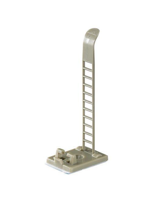 "Thomas & Betts ULNY-018-8-C Adjustable Ladder-Style Cable Clamp, Gray Nylon, 3.12"" Length"