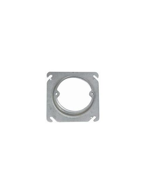 Raco 757 4 Inch 1 Inch Raised 7 In Steel Square Box Cover with Open Ear