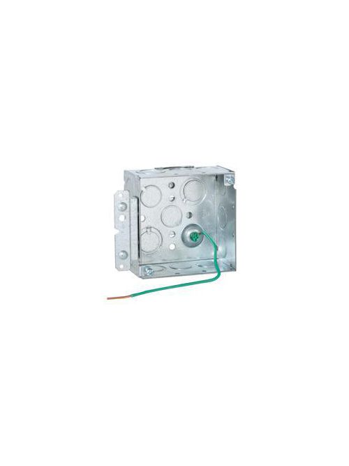 RACO 232H 4 x 4 x 2-1/8 Inch 30.3 In Pre-Galvanized Steel HM Bracket/Ceiling/Wall Mount Welded Square Box
