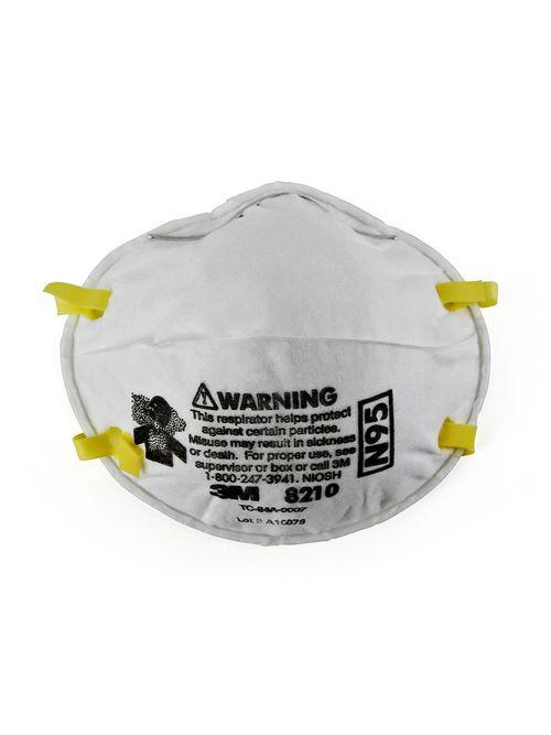 3M 8210-RESPIRATOR N95 20/Box 8 Box/Case Particulate Respirator