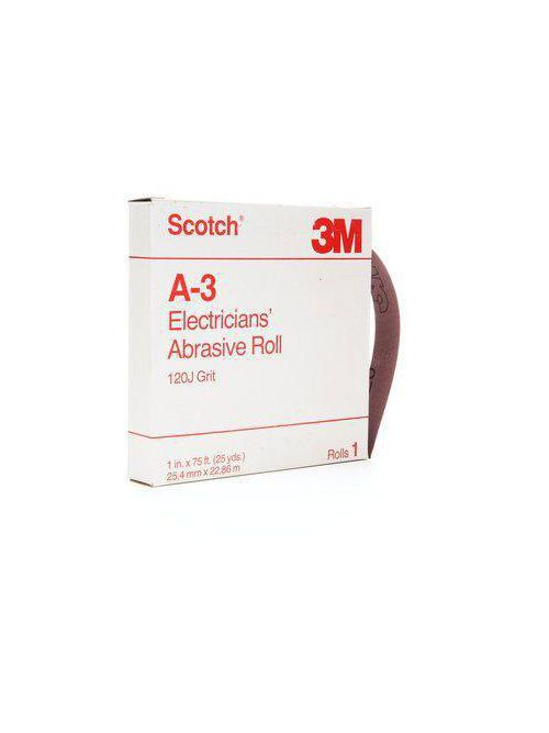 3M Electrical A-3 1 Inch x 25 Yard Electrician Abrasive Roll