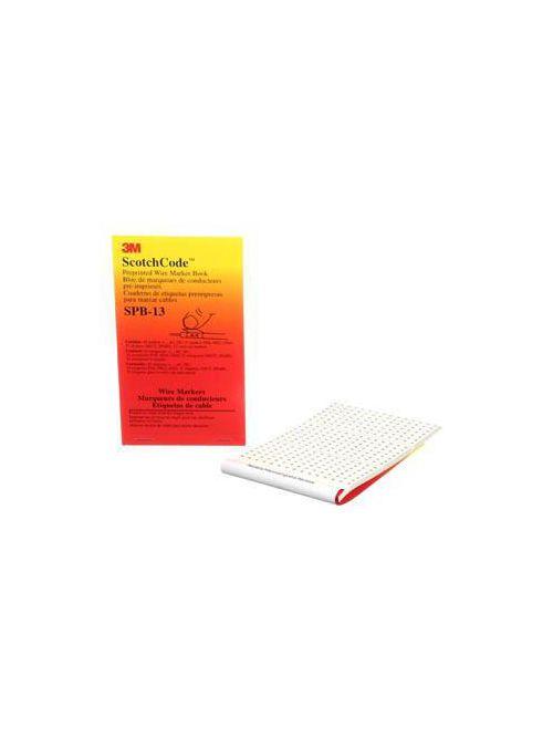 3M Electrical SPB-13 + - AC DC POS NEG GND NEUT SPARE Legend Pre-Printed Write-On Wire Marker Book