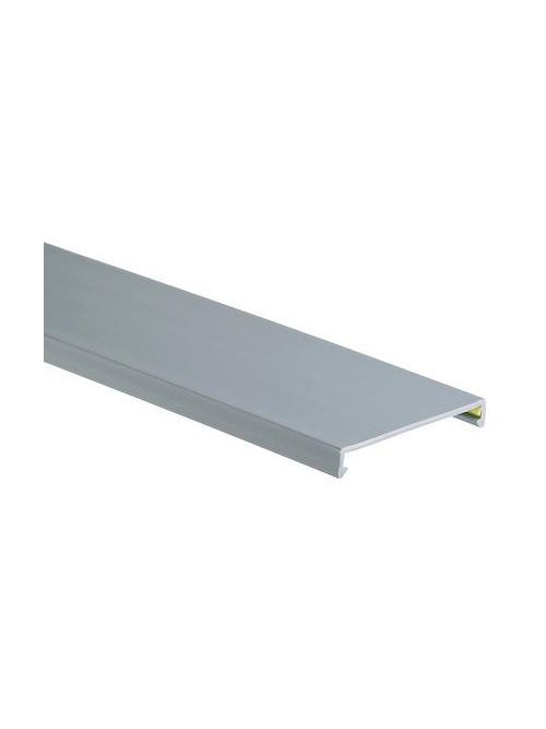 Duct cover, 1.5 W x 6' length, PVC, light gray.