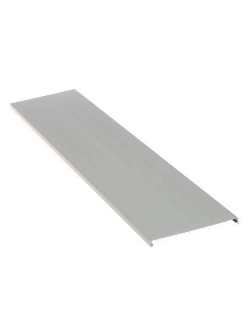 Duct cover, 4 W x 6' length, PVC, light gray.
