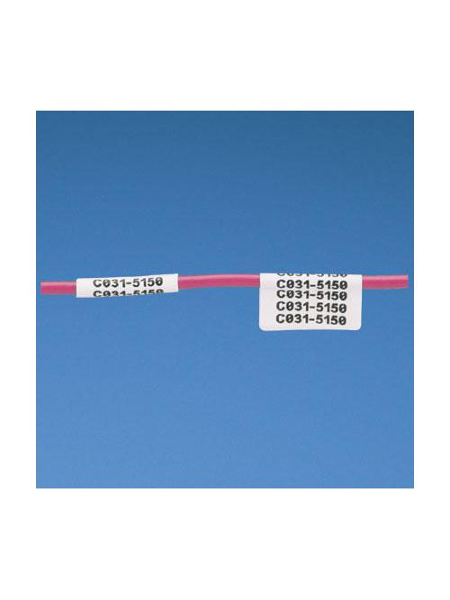 Panduit N050X075CBC 0.75 x 0.5 Inch White Vinyl Cloth Non-Laminated Label Cassette