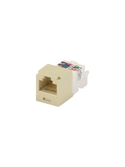 Panduit CJ688TPEI 8-Position 8-Wire Electric Ivory Category 6 Unshielded Twisted Pair Jack Module
