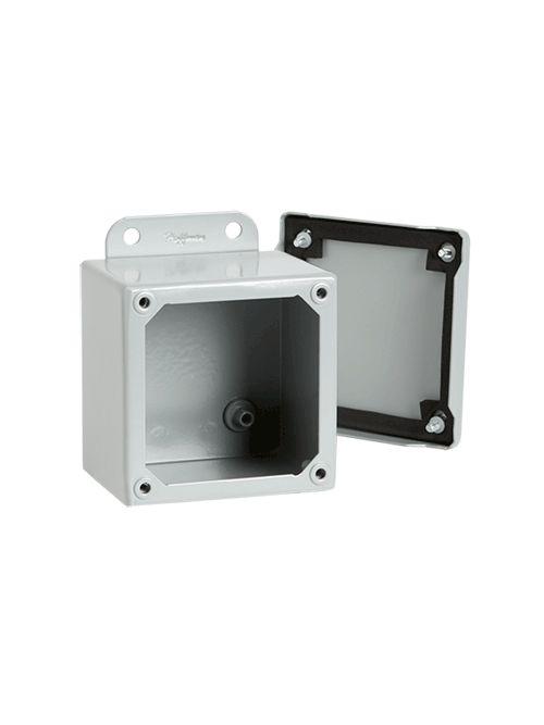Hoffman A10106SC 10 x 10 x 6 Inch 14 Gauge Painted Steel NEMA 12 Screw Cover Junction Box