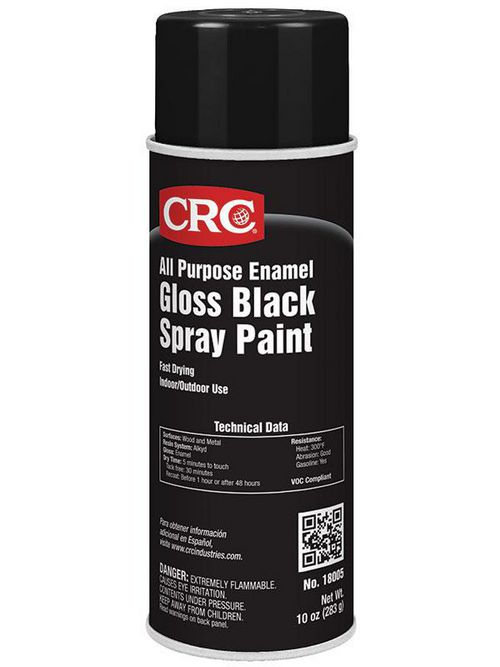 CRC Industries 18005 All Purpose Gloss Black Enamel Spray Paint