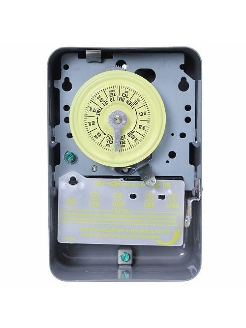 Intermatic T103 NEMA 1 Steel Case 125 VAC 60 Hz 40 Amp DPST Electromechanical Time Switch