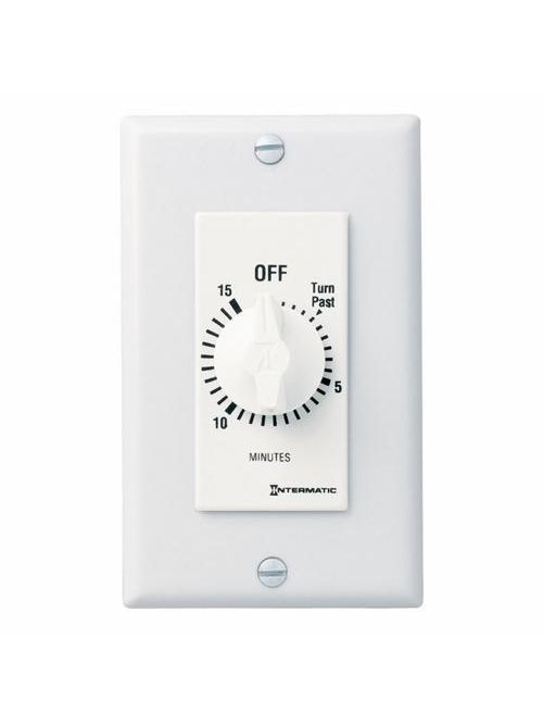 Intermatic FD15MWC 15 Minute 125 to 277 VAC 60 Hz SPST White Countdown Timer