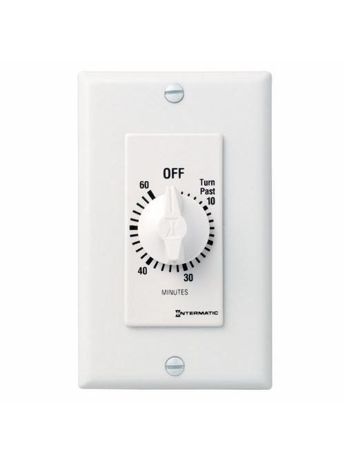 Intermatic FD60MWC 60 Minute 125 to 277 VAC 60 Hz SPST White Countdown Timer