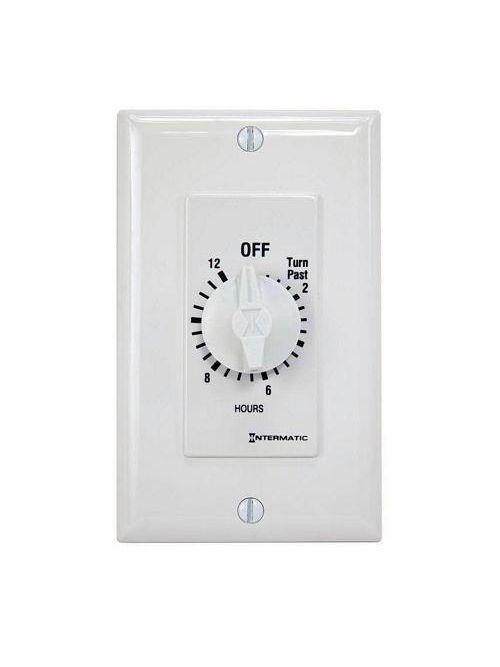 Intermatic FD12HWC 12 Hour 125 to 277 VAC 60 Hz SPST White Countdown Timer