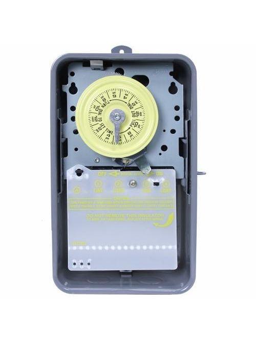 Intermatic T103R NEMA 3R Steel Case 125 VAC 60 Hz 40 Amp DPST Electromechanical Time Switch