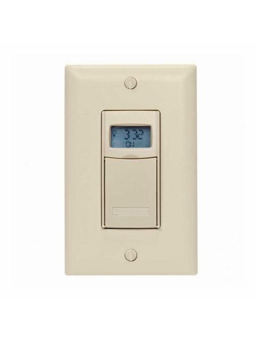 Intermatic EI400C 120 to 277 VAC 12 to 28 VDC 20 Amp 1-Pole 3-Way Ivory Digital Auto-Off In-Wall Timer