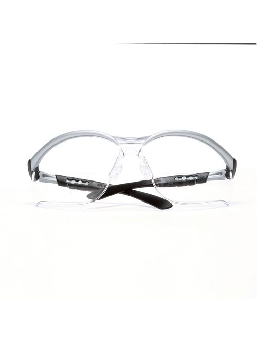 3M Industrial Safety 11374-00000-20 Silver Frame 1.5 Diopter Clear Lens Protective Eyewear