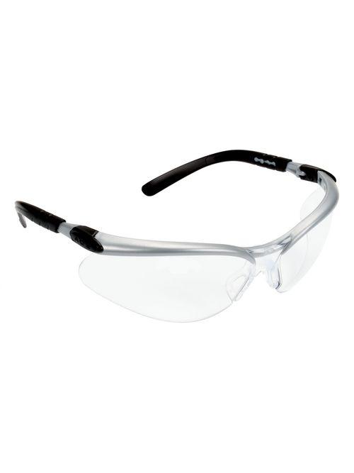 3M Industrial Safety 11380-00000-20 Silver Frame Clear Anti-Fog Lens Protective Eyewear