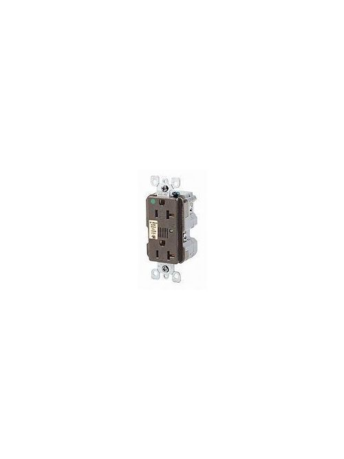 Leviton 8380-W 125 Volt 20 Amp 2-Pole 3-Wire NEMA 5-20R 1 Hp White Nylon Feed-Through Straight Blade Duplex Receptacle