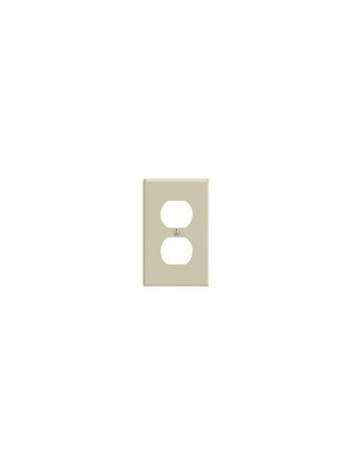 Leviton 86003 2.75 x 0.22 x 4.5 Inch 1-Gang Smooth Ivory Thermoset Device Mount Standard Duplex Receptacle Wallplate