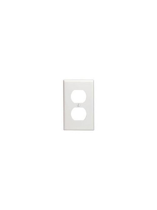 Leviton 88003 2.75 x 0.22 x 4.5 Inch 1-Gang Smooth White Thermoset Device Mount Standard Duplex Receptacle Wallplate