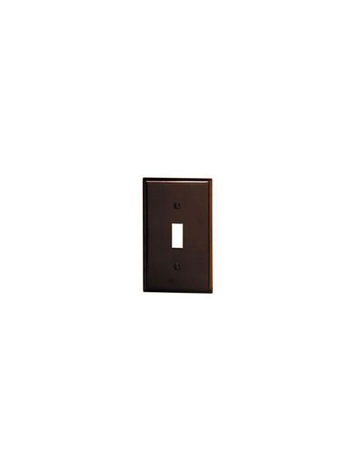 LEVITON 85001 1GANG BROWN SWITCHWALLPLATE