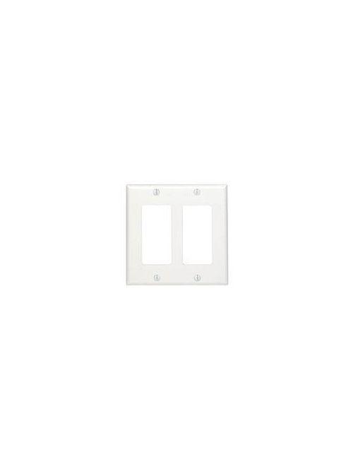 LEVITON 80409-W 2GANG DECORAWALLPLATE WHITE