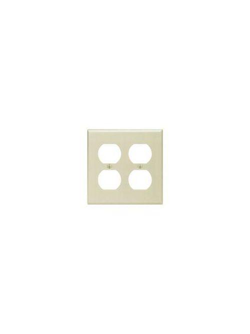 LEVITON 86016 2GANG IVORY DOUBLEDUPLEX RECEPTACLE WALLPLATE