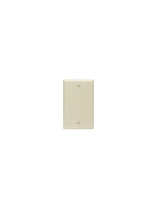 Leviton 86014 2.75 x 0.22 x 4.5 Inch 1-Gang Smooth Ivory Thermoset Box Mount Standard Blank Wallplate