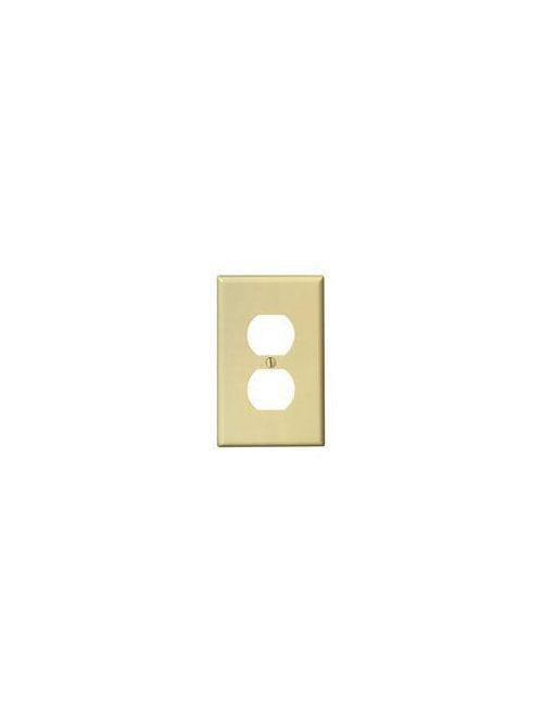 Leviton PJ8-I 1-Gang Midway Size Thermoplastic Nylon Device Mount Ivory Duplex Device Receptacle Wallplate