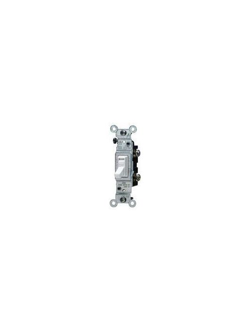 Leviton 1451-2T 120 VAC 15 Amp 1-Pole 1/2 Hp Light Almond Thermoplastic Grounding Framed Toggle Quiet Switch