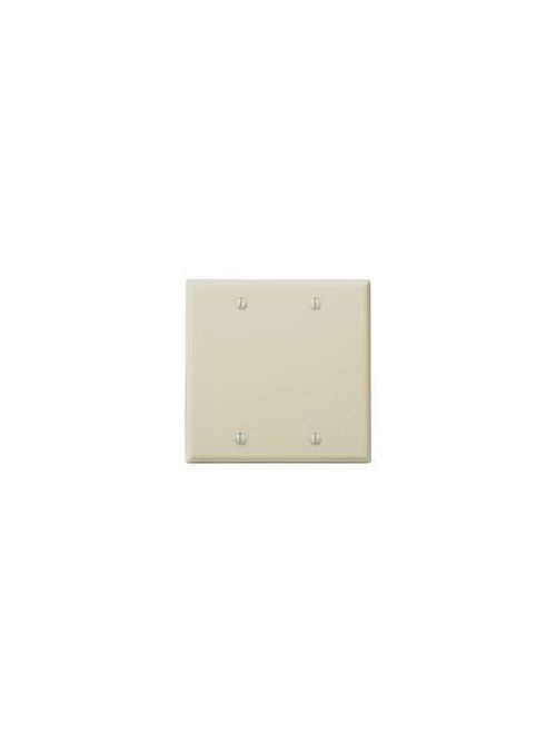 Leviton 86025 4.56 x 0.22 x 4.5 Inch 2-Gang Smooth Ivory Thermoset Box Mount Standard Blank Wallplate